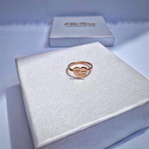 14k ružové zlato prsteň s personalizáciou